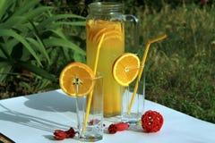 Koude verse eigengemaakte limonade Stock Foto's