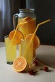 Koude verse eigengemaakte limonade Stock Afbeeldingen