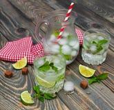 Koude verse limonadedrank Royalty-vrije Stock Afbeeldingen