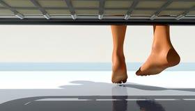 Koude voeten Stock Afbeelding