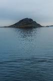 Koude wazige ochtend in Nanortalik, Groenland royalty-vrije stock afbeelding