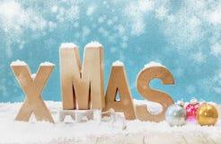 Koude winterse Kerstmisachtergrond Royalty-vrije Stock Foto's
