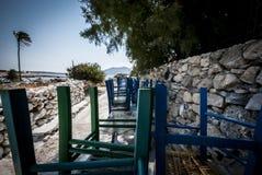 Koufonisi ö i Grekland! Arkivbild