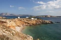 Koufonisia island. Landscape of Koufonisia island with keros island in the background Stock Photo