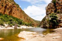 Kouga河峡谷在南非 免版税库存照片