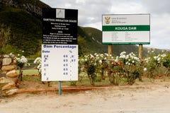 Kouga-Verdammungsniveau auf 66 Prozent - 1. Oktober 2016 Lizenzfreies Stockfoto