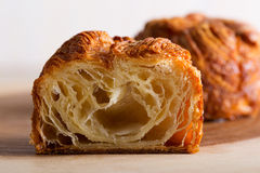 Kouign amann pastry. Delicious and sweet kouign amann, traditional breton pastry, sliced Royalty Free Stock Photos