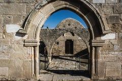 Kouklia, distrito de Paphos/Chipre - em janeiro de 2019: Igreja de Panagia Katholiki foto de stock