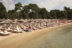 Koukounaries beach Stock Photo