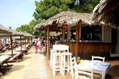 Koukounaries Beach, Skiathos, Greece. Stock Photos