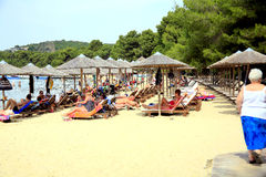 Koukounaries beach, Skiathos. Royalty Free Stock Image