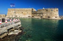 Koules. (Castello del Molo) in the port of Iraklion Royalty Free Stock Photo