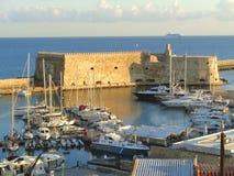 Koules Castello lub forteca Kobyli, Historyczny forteca przy Starym portem Heraklion, Grecja Obrazy Stock