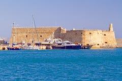 Koules forteca w Heraklion Zdjęcia Royalty Free
