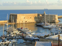 Koules Fortress or Castello a Mare, Historic Fortress at the Old Port of Heraklion, Greece Stock Images