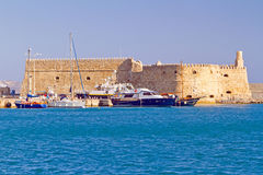 Koules fortress in Heraklion. Venetian fortress Koules in Heraklion, Crete Royalty Free Stock Photos