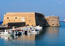 Koules Fortress In Heraklion Greece Stock Photo