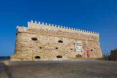 Koules Fortress, Heraklion. Heraklion, Greece - October 12 2016: The Koules Fortress, located at the entrance of the old port of Heraklion Stock Photo