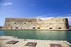 Koules Fortress in Heraklion. Island of Crete in Greece. royalty free stock images