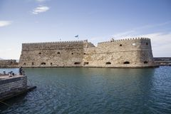 Koules Fortress in Heraklion. Island of Crete in Greece. royalty free stock photo