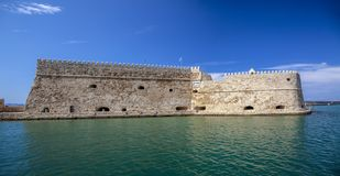 Koules Fortress in Heraklion. Island of Crete in Greece. royalty free stock photography