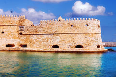 Koules fortress The Venetian Castle of Heraklion in Heraklion city, Crete island Stock Images