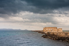 Koules Venetian Fortress. In Heraklion city, Crete, Greece Royalty Free Stock Photos