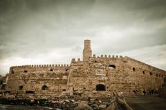 Koules Venetian Fortress. In Heraklion city, Crete, Greece Royalty Free Stock Image