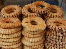Koulouri Bread Rings, Athens Stock Photos