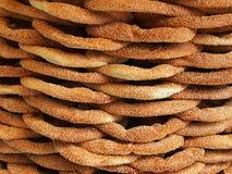 Koulouri Bread Rings, Athens Stock Photo