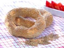 Koulouri-greek round bread Stock Images