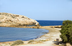 Koumbara beach Ios cyclades Greece Royalty Free Stock Photography