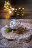 Kourambiedes. Festive Christmas Greek Traditional Dessert royalty free stock images