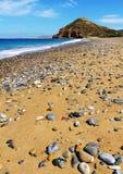 Kouremenos海滩在克利特,希腊 免版税图库摄影