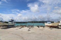 Kouri海岛在冲绳岛,日本 库存图片