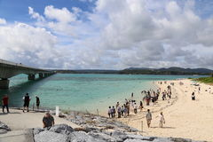 Kouri海岛在冲绳岛,日本 免版税库存照片