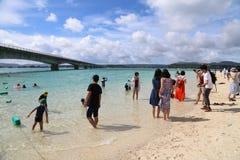 Kouri海岛在冲绳岛,日本 免版税库存图片