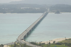 The Kouri Bridge in OKINAWA Royalty Free Stock Photography