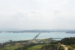 The Kouri Bridge in OKINAWA Royalty Free Stock Images