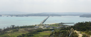 The Kouri Bridge in OKINAWA Stock Image