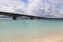 Kouri Bridge in Okinawa, Japan. Beautiful Kouri Bridge in Okinawa, Japan royalty free stock photo