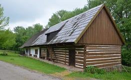KOURIM - 5月24日:传统村庄房子从17世纪 2014年5月24日 免版税图库摄影