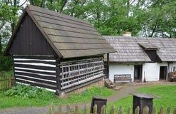 KOURIM - 5月24日:传统村庄房子从17世纪 2014年5月24日 免版税库存图片