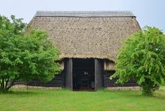 KOURIM - 5月24日:传统谷仓从17世纪 库存照片