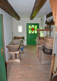 KOURIM - 5月24日:村庄房子内部从18世纪 库存图片