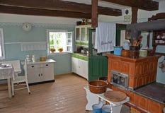 KOURIM - 24 DE MAYO: Interior de la casa del pueblo a partir del siglo XVIII Foto de archivo