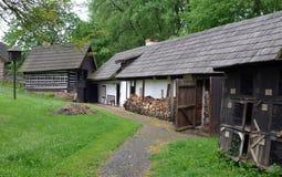 KOURIM - 24. MAI: Traditionelles Dorfhaus vom 17. Jahrhundert 24. MAI 2014 Stockfotografie
