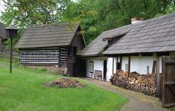 KOURIM - MAJ 24: Traditionellt byhus från det 17th århundradet MAJ 24, 2014 Royaltyfria Bilder