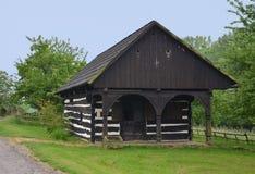 KOURIM - MAJ 24: Tradycyjny blacksmith sklep od xvii wiek Zdjęcia Royalty Free