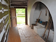 KOURIM - MAY 24: Interior of village house from the 17th century. Czech republic. Open-air museum of folk architecture, Kourim. May 24, 2014 Royalty Free Stock Photo